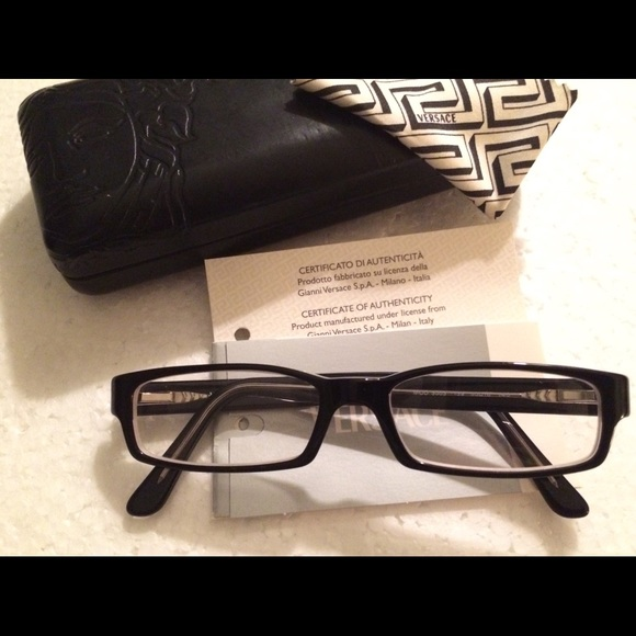 f57e2d4c0118 New Versace Eyeglasses w Case   Cert of Auth. M 5afbaa89c9fcdf0a2bb331d8